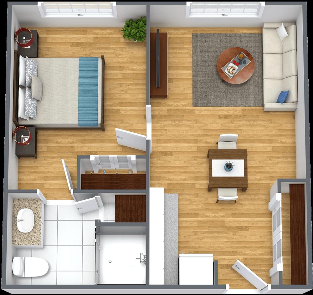 Legacy Ridge at Sweetwater Creek One Bedroom Floorplan in Lithia Springs, GA