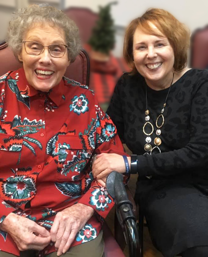 Angels for the Elderly specialty care assisted living resident and family member in Montgomery, AL