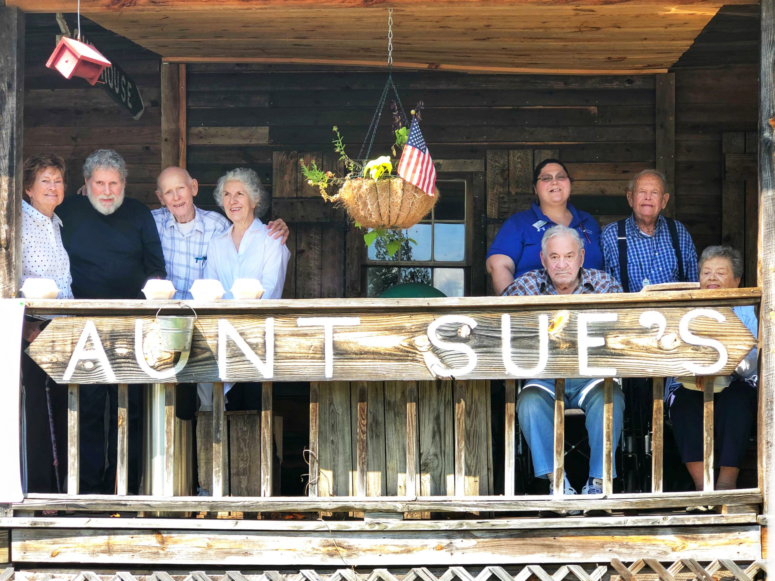 Fairview Park senior living residents and associates at Aunt Sue's Country Corner in Pickens, SC