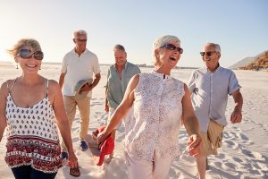 Lake Howard Heights | Seniors walking along beach