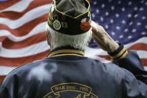 Lake Howard Heights | Senior saluting flag