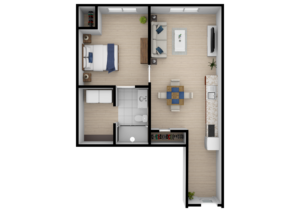 Legacy Reserve at Fairview | One Bedroom D