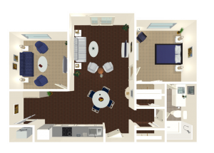 Legacy Reserve at Fritz Farm | One Bedroom Deluxe Floor Plan
