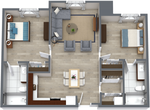 Legacy Reserve at Old Town | Two Bedroom - B