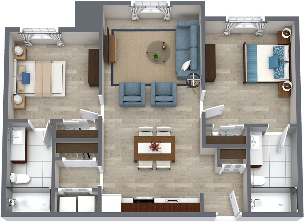Legacy Reserve at Old Town | Two Bedroom - C