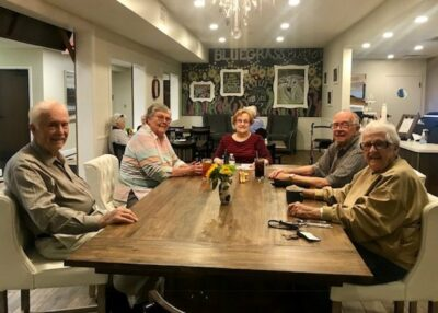 Legacy Reserve at Old Town | Seniors at table