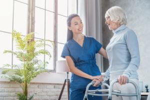 Atlas Senior Living | Senior woman participating in rehabilitation