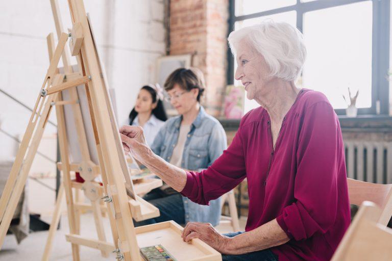 Legacy Ridge at Alpharetta | Senior Woman Painting