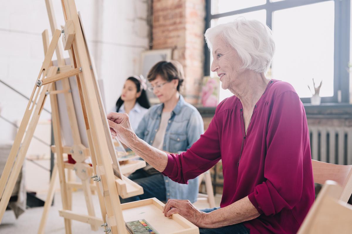 Legacy Ridge at Buckhead | Senior Woman Painting