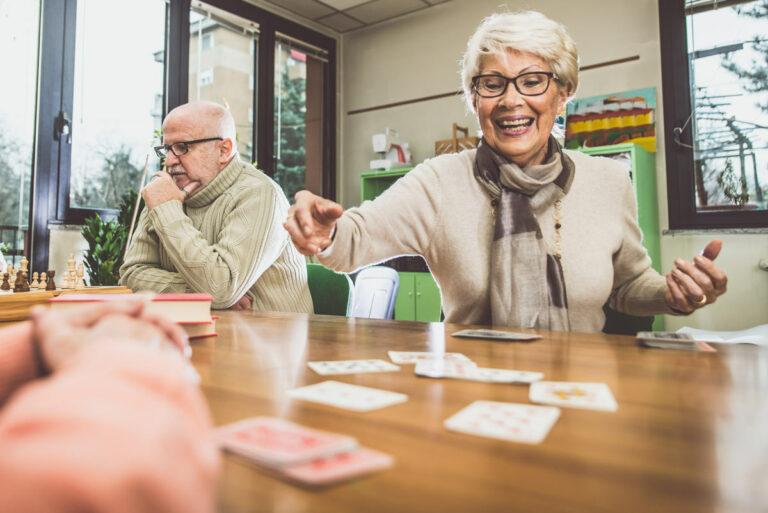 Legacy Ridge at Buckhead | Seniors playing cards