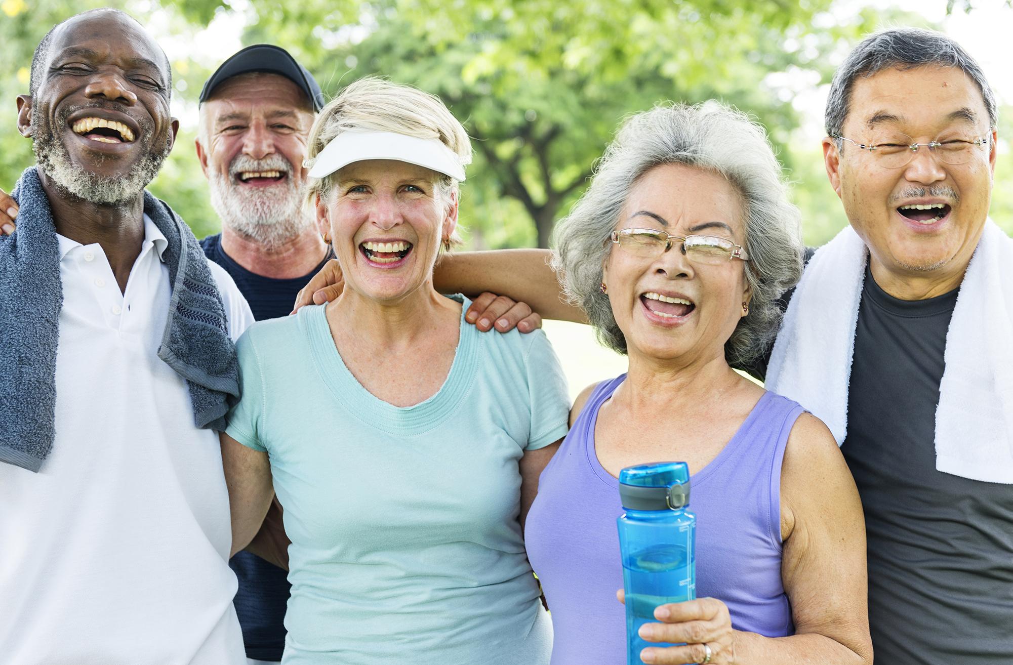 Legacy Ridge at Marietta | Group of seniors exercising outside