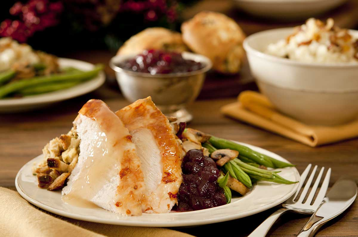 Legacy Ridge at Neese Road | Turkey, stuffing, green beans, and cranberries