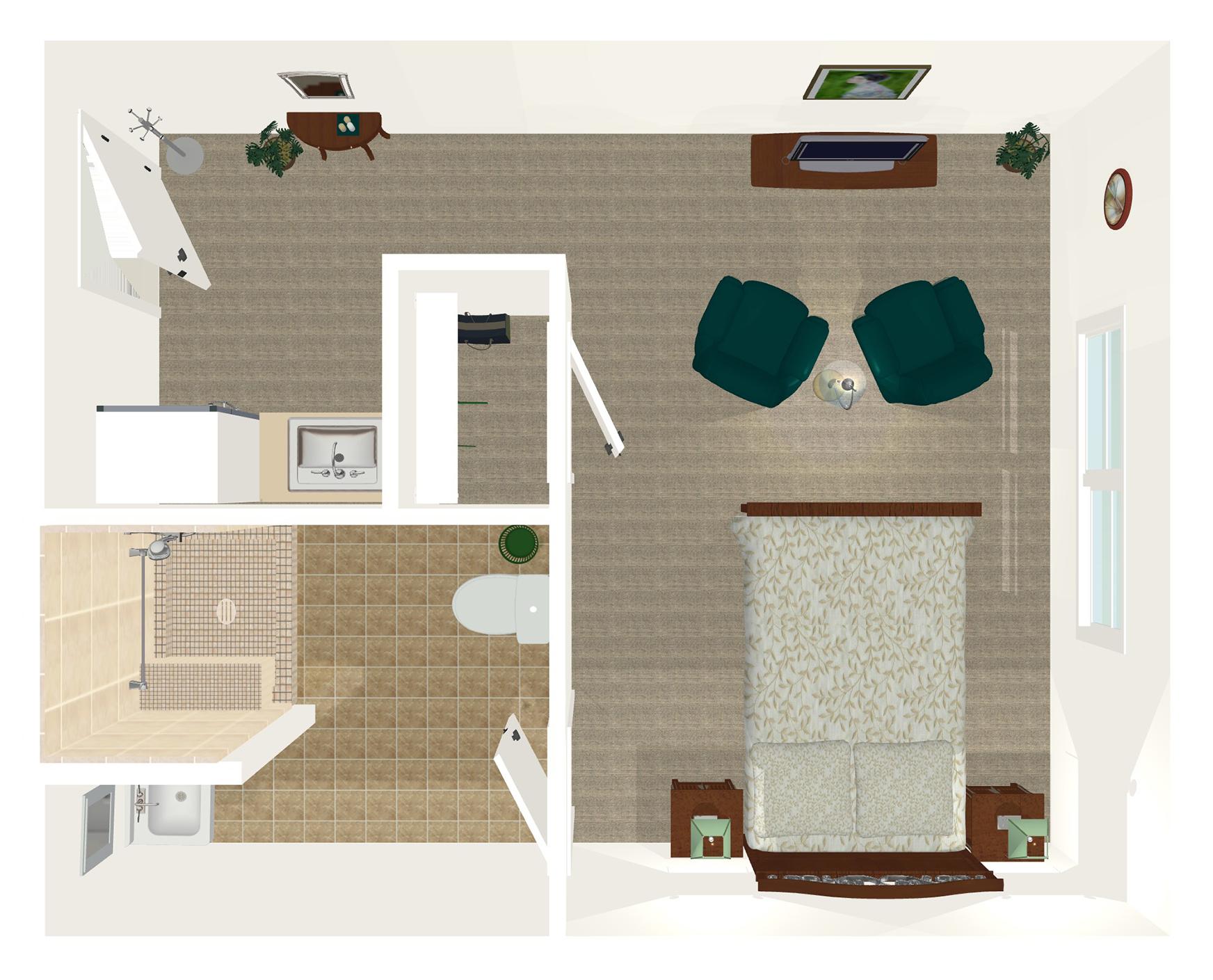 Legacy Ridge Trussville Studio Floor Plan, Trussville Alabama
