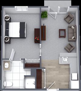 Legacy at Savannah Quarters | One Bedroom Large Courtyard