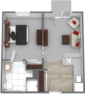 Legacy at Savannah Quarters | One Bedroom Courtyard