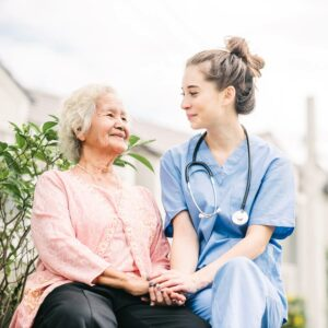 Legacy at Savannah Quarters | Nurse with resident