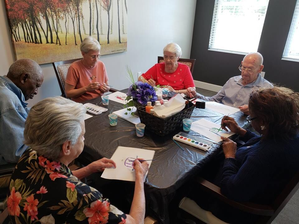 Madison Heights Enterprise memory care residents in