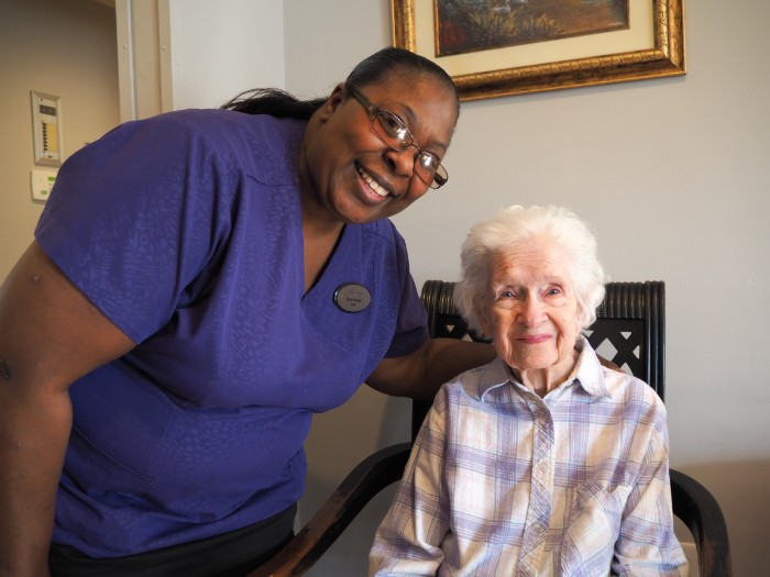 Madison Heights memory care resident and associate