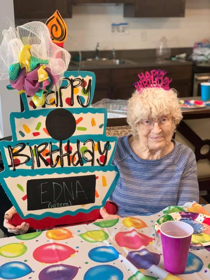 Madison Heights Enterprise   Resident Edna celebrating her birthday
