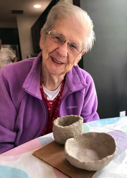 Madison Heights Evans Elder woman and pottery Augusta Georgia