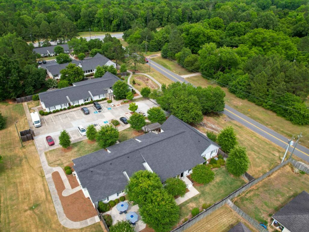 Madison Heights Evans | Aerial view of all buildings