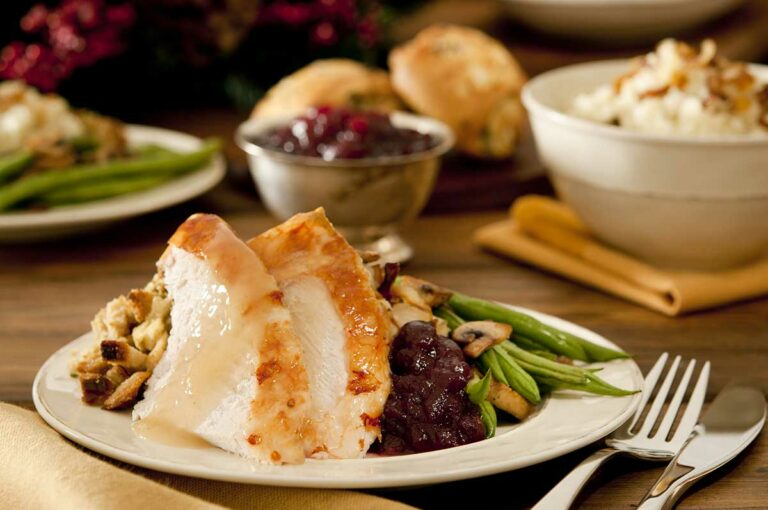Madison Heights at the Prado | Turkey, green beans, stuffing, and cranberries