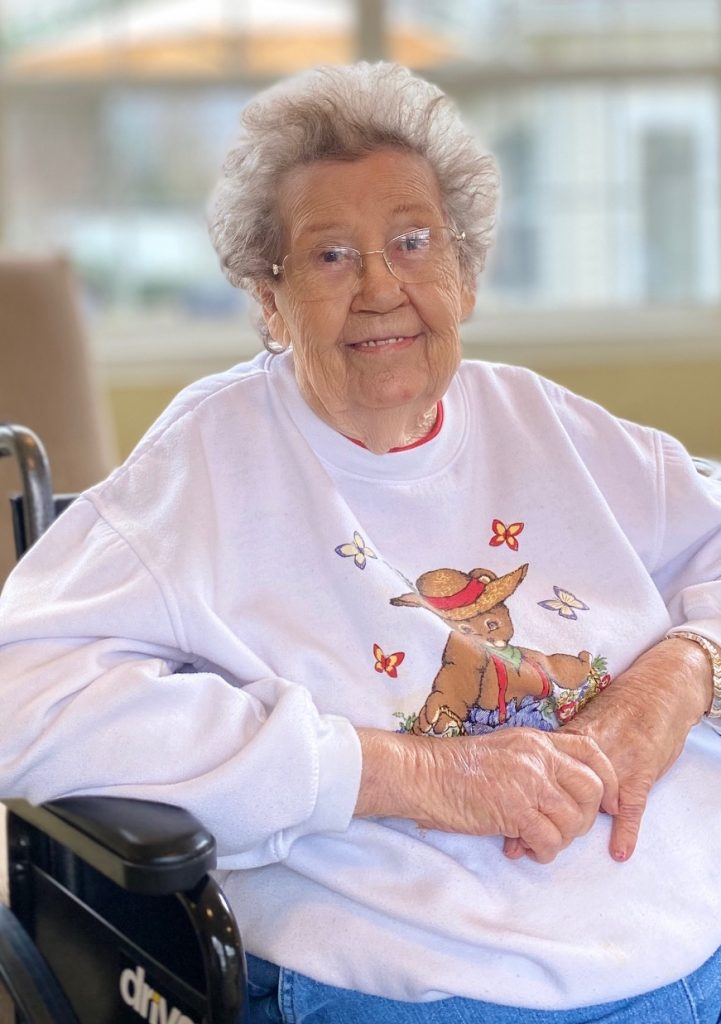 Resident in Madison Heights at The Prado senior living community