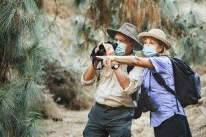 Atlas Senior Living   Seniors walking with binoculars