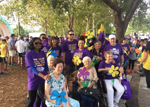 Madison at Ocoee residents at Walk to End Alzheimer's event
