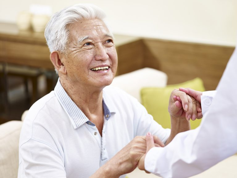The Goldton | Senior man with caregiver