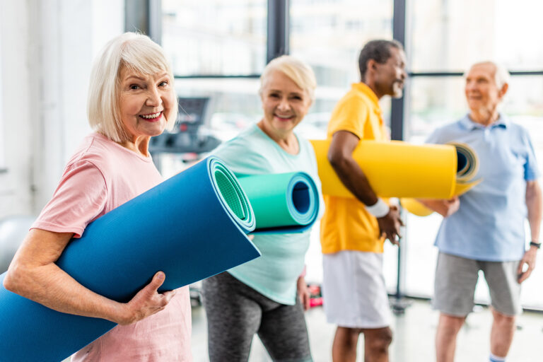 The Goldton at Southaven | Active seniors at gym