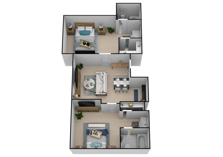 The Goldton   Two Bedroom Two Bathroom