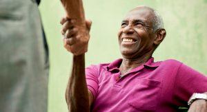Atlas Senior Living   Senior man shaking hands