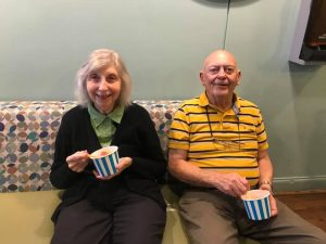 Madison Heights   Seniors enjoying snack
