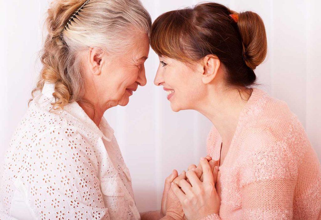 Atlas Senior Living | Senior woman smiling with grandaughter