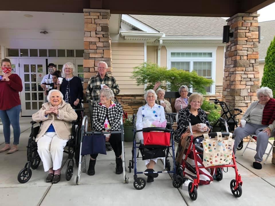 Atlas Senior Living | Senior Residents Sitting Outside