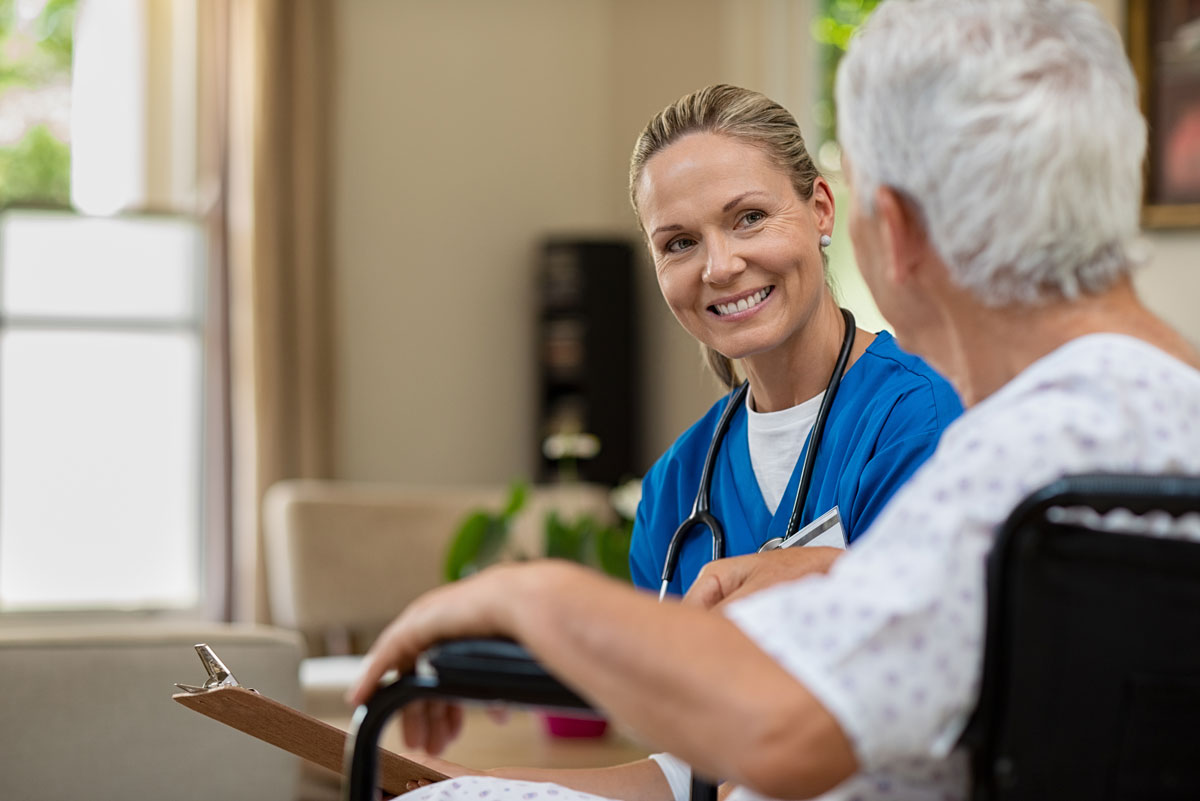Legacy Reserve at Old Town | Nurse with senior