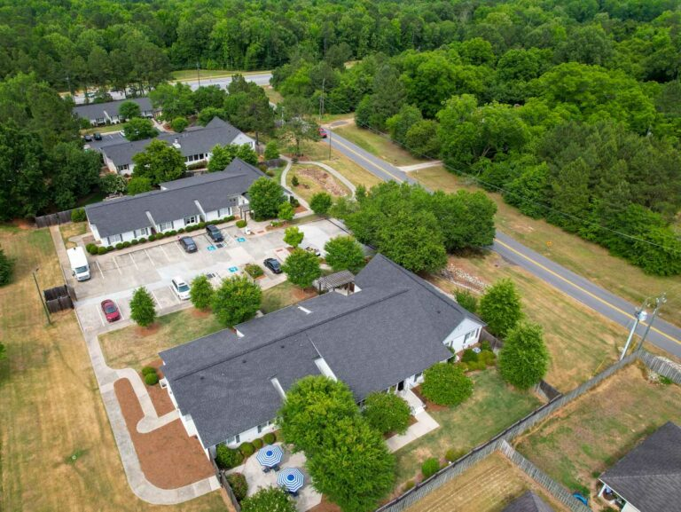 Madison Heights Evans   Aerial view of all buildings