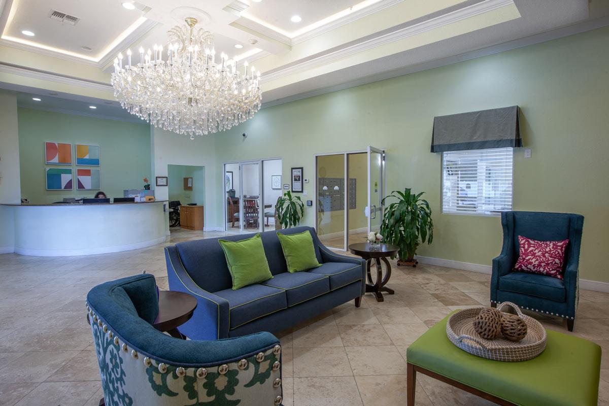 Atlas Senior Living | The Goldton at St. Petersburg's lobby