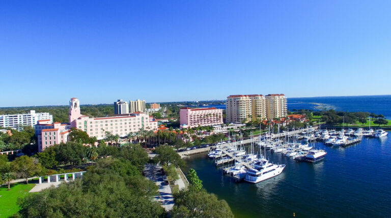 The Goldton at St. Petersburg | The Vinoy Hotel and marina view downtown St. Petersburg